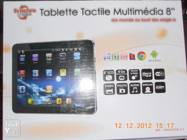 "image TABLETTE TACTILE ANDROIDE NEUVE 8 "" LCD"