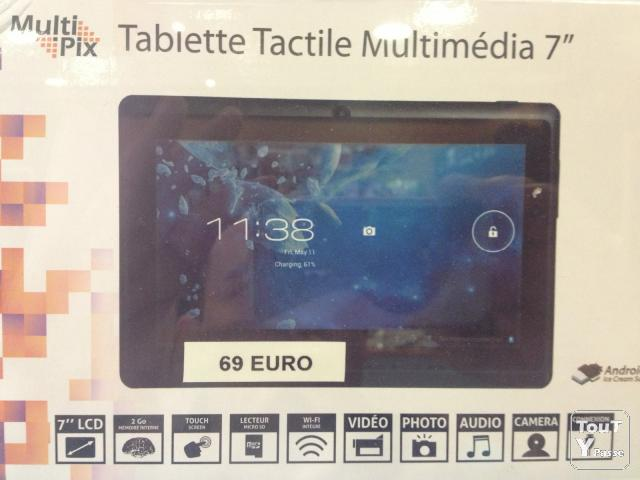 image TABLETTE 7 POUCES +2GB PHOTO/VIDÉO/AUDIO/CAMERA/WIFI 69 €