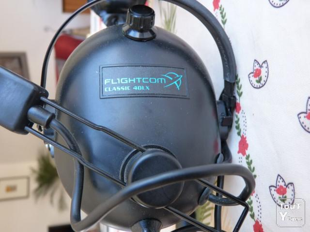 image Casque radio Flightcom 4DLX