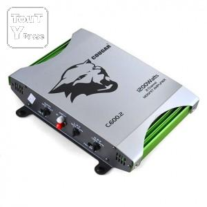 image Ampli voiture 2 canaux Cougar 1200 Watts