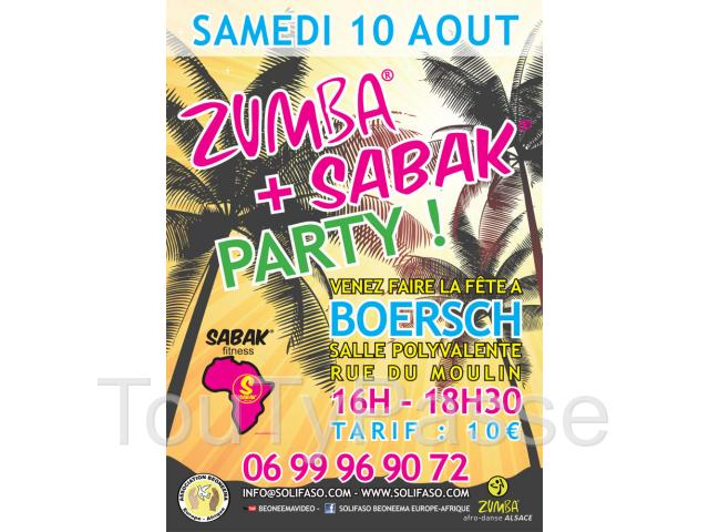photo de 2h30 de Zumba & Sabak Party - 10 août 2013 à Boersch - Association Beoneema Europe-Afrique