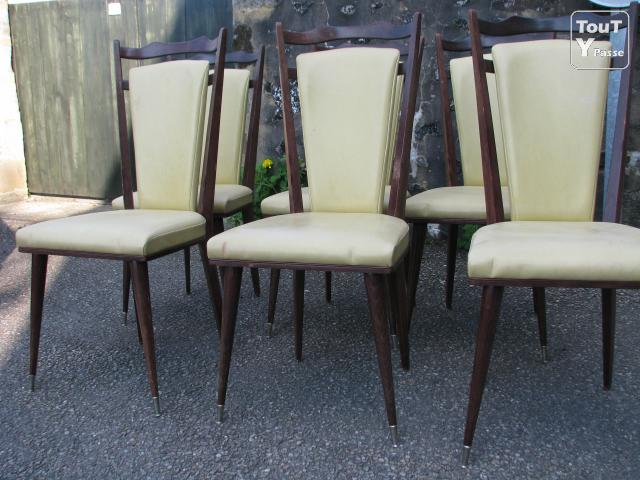 6 chaises salle manger 1960 environ limousin