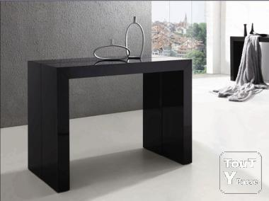 Table console extensible ikea noir for Console meuble ikea