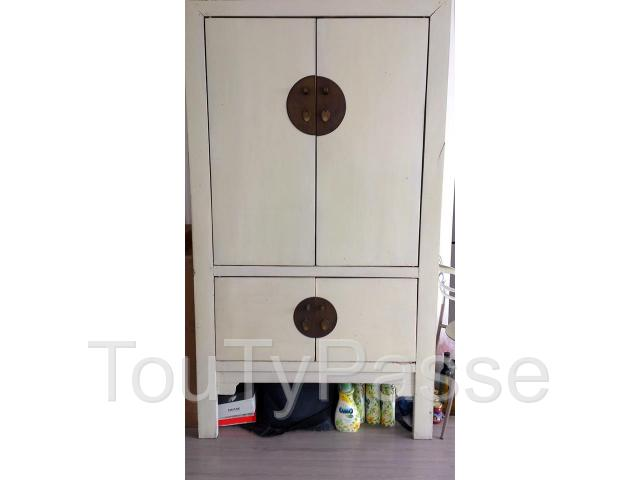 photo amoire de mariage chine laquee blanc image 14 - Armoire De Mariage Chinoise