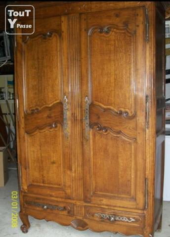 Armoire ancienne chene massif orthevielle 40300 - Armoire bressane ancienne ...