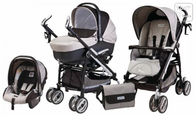 photo de BebeQO poussette combinée Peg-Perego Pliko P3 london