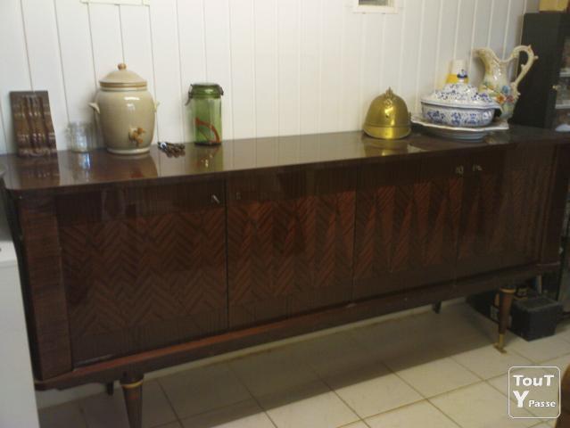 Buffet vitrine table ann e 1970 sa ne et loire for Table de salle a manger annee 50