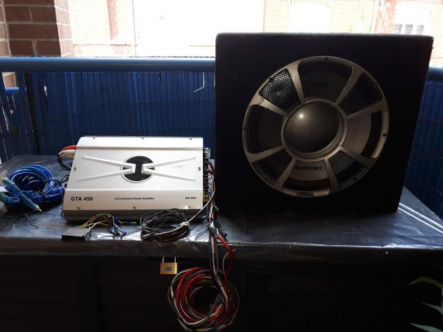 photo de Caisson de basse/subwoofer Blaupunkt gt series 1200 + AMPLIFICATEUR BLAUPUNKT GTA 450 - 640 WATTS