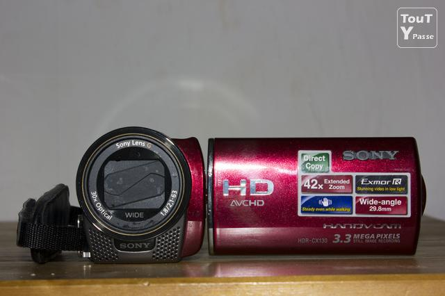 photo de Camescope Sony fullhd HDR-CX130 rouge