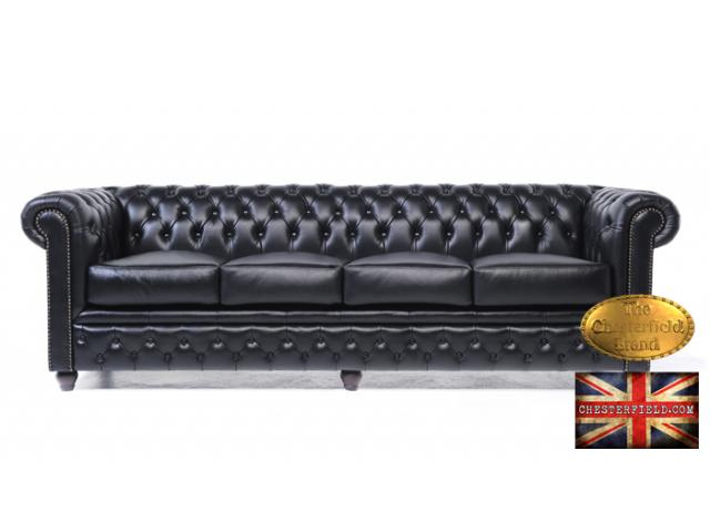 photo de Canapé Brighton Noir Chesterfield 4 places