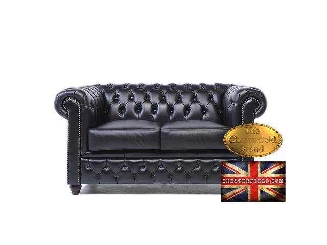 photo de Canapé Original Chesterfield Antique Noir 2 places