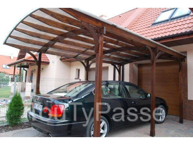 carport en bois adossable pour 1 voiture. Black Bedroom Furniture Sets. Home Design Ideas