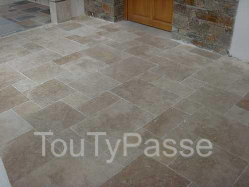 Carrelage dallage travertin opus 4 multi forma int ext for Carrelage opus