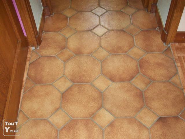 Carrelage octogonal avec cabochons mons gur 33580 for Carrelage octogonal