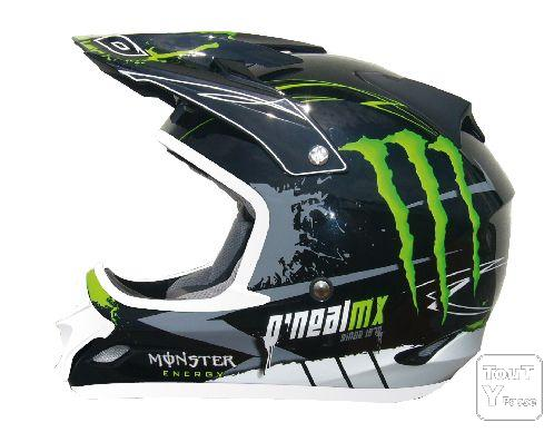 casque moto cross o 39 monster 709r monster energy 2010. Black Bedroom Furniture Sets. Home Design Ideas