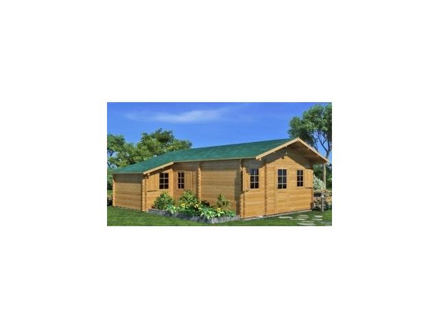 Chalet bois de greenlife livr en kit 40m2 double for Chalet en bois solde