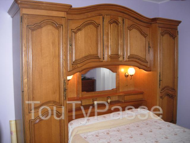 chambre pont de lit en ch ne poitou charentes. Black Bedroom Furniture Sets. Home Design Ideas