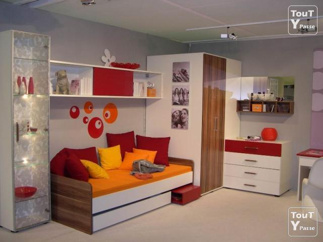 chambre pour ado fille ou garcon herne 1540. Black Bedroom Furniture Sets. Home Design Ideas