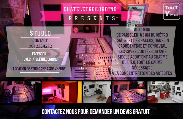 photo de Chatelet Recording studio d'enregistrement