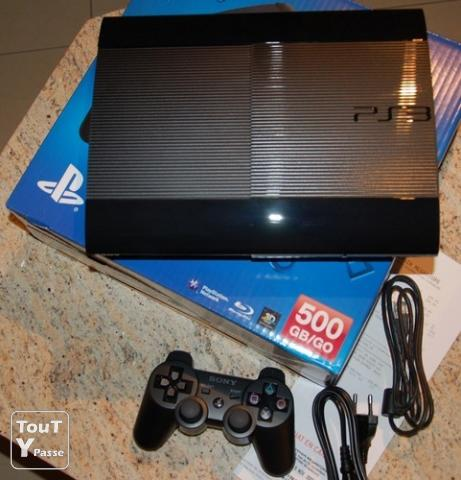 console ps3 ultra slim 500 go sony 2 manettes jeu gironde. Black Bedroom Furniture Sets. Home Design Ideas