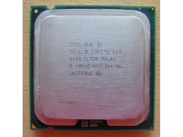 Photo CPU E6600- Processeur Intel Core 2 Duo image 1/2