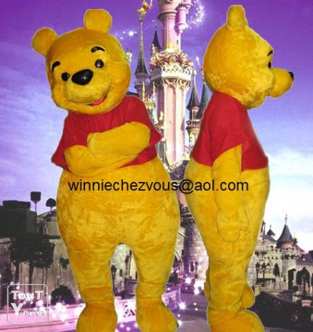 d guisement adulte winnie mascotte animation anniversaire disney poitiers 86000. Black Bedroom Furniture Sets. Home Design Ideas