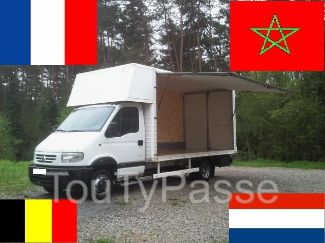 photo de déménagement transport belgique france maroc europe