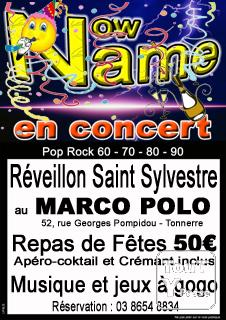 photo de Dîner Saint Sylvestre avec le groupe Pop Rock Now Name