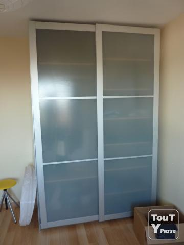 Dressing armoire portes coulissantes nord - Porte coulissante vitree ikea ...