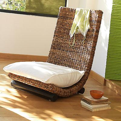 Fauteuil rotin ras du sol gong communay 69360 for Canape bas ras du sol