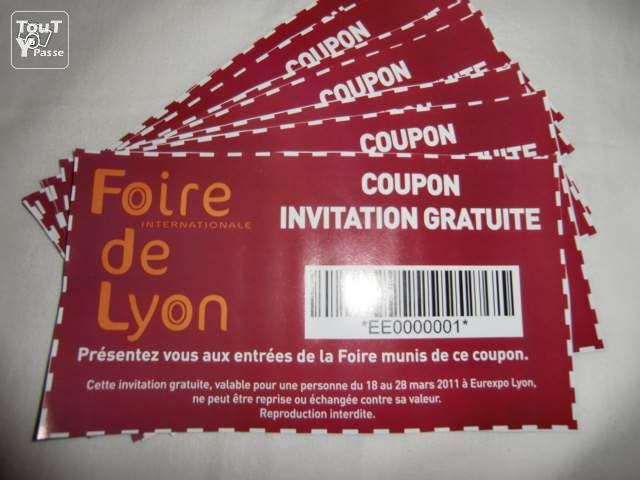foire de lyon 18 28 03 2011 entr e ticket invitation rh ne. Black Bedroom Furniture Sets. Home Design Ideas