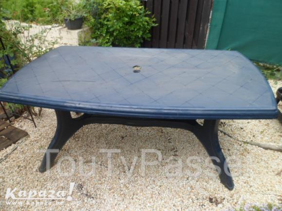 Emejing Grande Table De Jardin En Pvc Images Design
