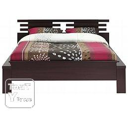 Lit 140 190 orys wenge sommier matelas le grand for Chambre a couche wenge