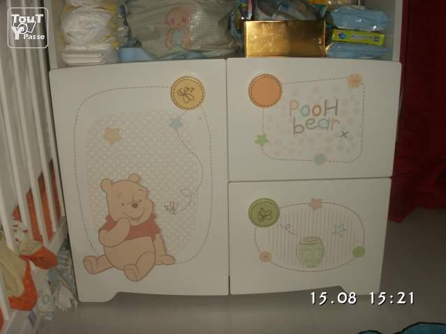 Lit commode winnie l 39 ourson le de france for Chambre winnie l ourson