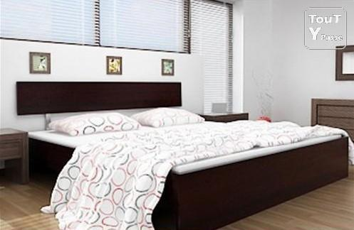 lit deux places adultes 140x200 avignon 84000. Black Bedroom Furniture Sets. Home Design Ideas
