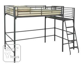 lit mezzanine alexi alinea 2 places 140x200 super affaire savoie. Black Bedroom Furniture Sets. Home Design Ideas