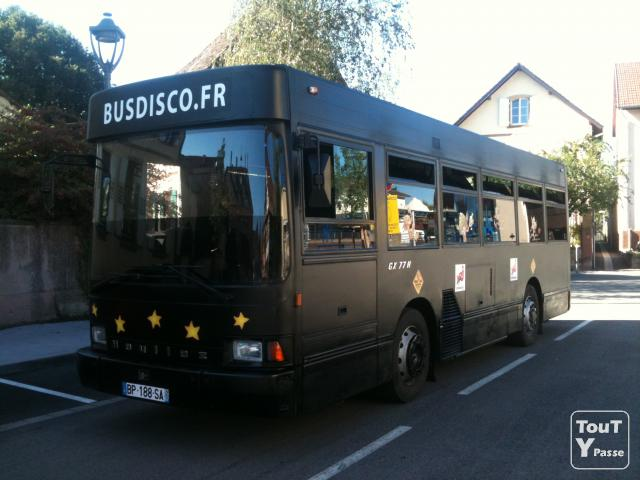 location d 39 un busdisco fr en alsace. Black Bedroom Furniture Sets. Home Design Ideas