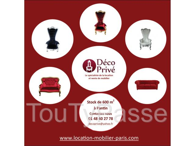 photo de location mobilier évènementiel