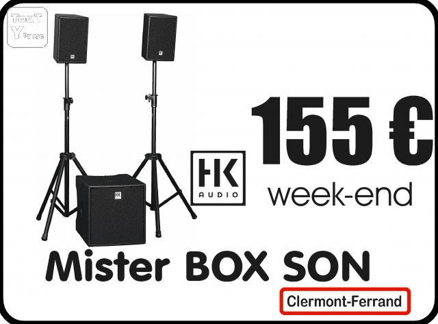 location sono sans dj avec mister box son clermont ferrand puy de d me. Black Bedroom Furniture Sets. Home Design Ideas