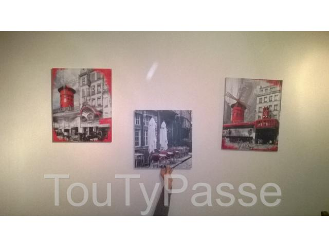 photo de Lot de 4 cadres gris rouge