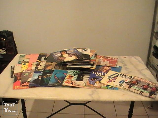 photo de Lot de 75 vinyls 45 trs