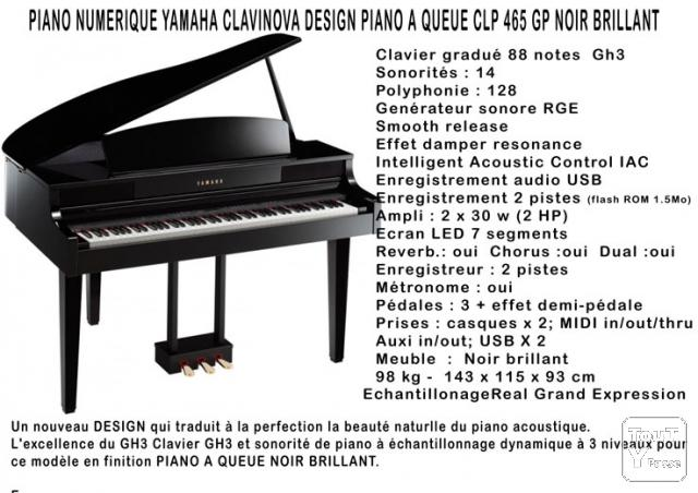 magnifique piano numerique quart de queue. Black Bedroom Furniture Sets. Home Design Ideas