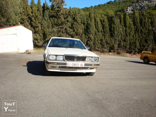 Photo Maserati Biturbo blanc 422 de 1988 image 1/4