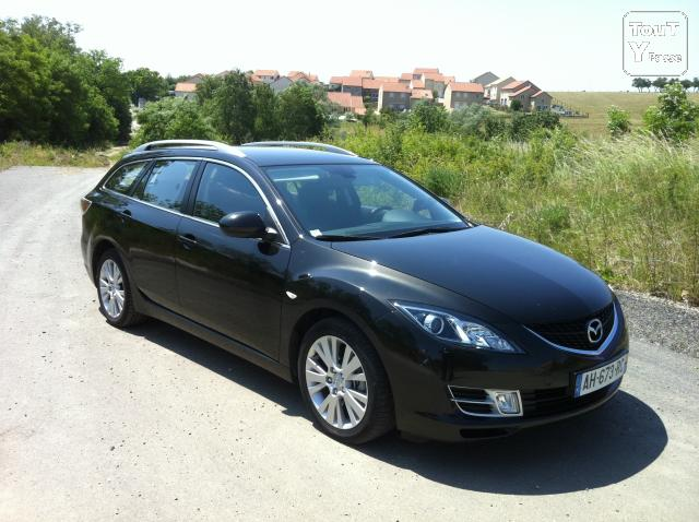 mazda 6 break l gance 2 2l mzrcd 125 noir annee 2009 montigny l s metz 57950. Black Bedroom Furniture Sets. Home Design Ideas