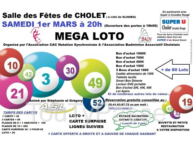 photo de Méga Loto CAC Natation Synchronisée & Badminton Associatif Choletais