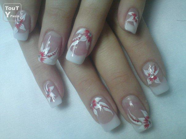 pin ongles en gel avec dessins motifs diamants froblog on