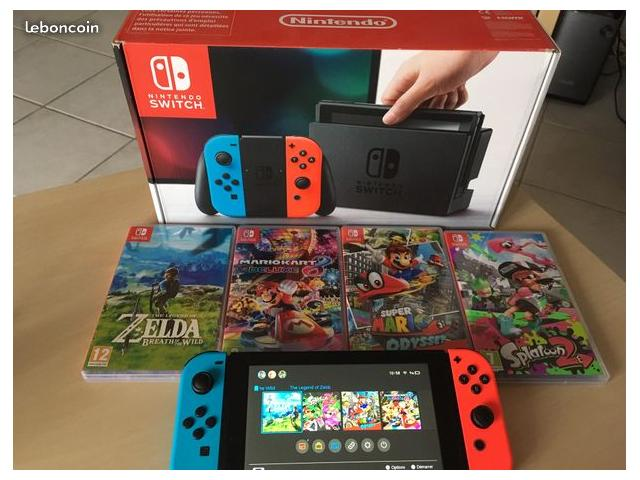 photo de Nintendo Switch Zelda BOTW + Mariokart deluxe 8