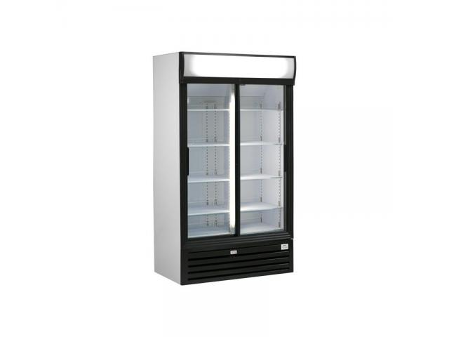 nouveau frigo esta vitrine double porte 945l li ge 4000. Black Bedroom Furniture Sets. Home Design Ideas