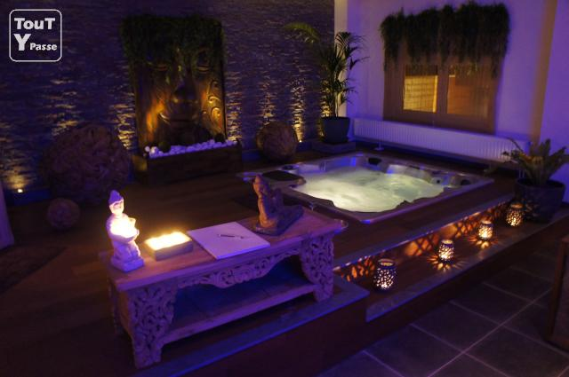 Bois zen spa privatif manage 7170 - Spa jacuzzi belgique ...