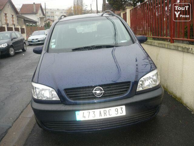 opel zafira 7 places mod le 2000 le de france. Black Bedroom Furniture Sets. Home Design Ideas
